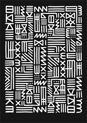 Poster: Monochrome Tribal