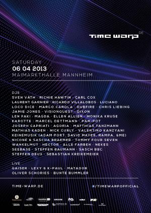 Flyer Time Warp 2013