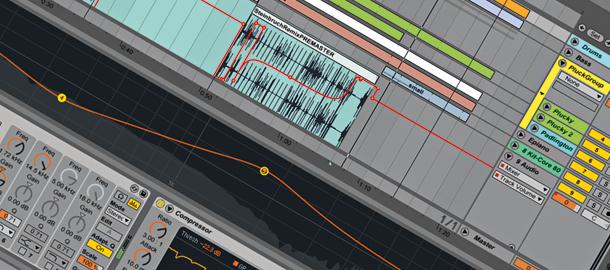 Screenshot: Ableton Live 9 Arrangement View (zur Vollansicht anklicken!)