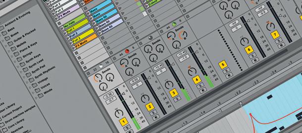 Screenshot: Ableton Live 9 Session View (zur Vollansicht anklicken!)