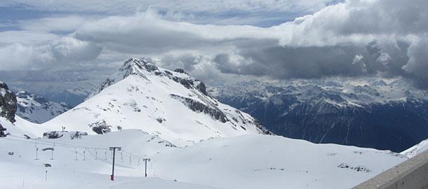 Skigebiet in Crans-Montana