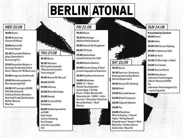 atonal-timetable