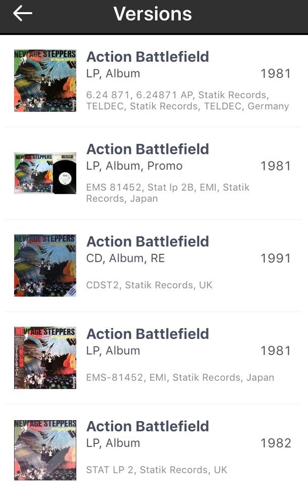 Discogs_App_Versions