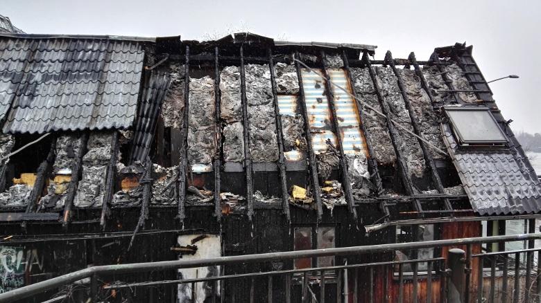 Der ausgebrannte Dachstuhl