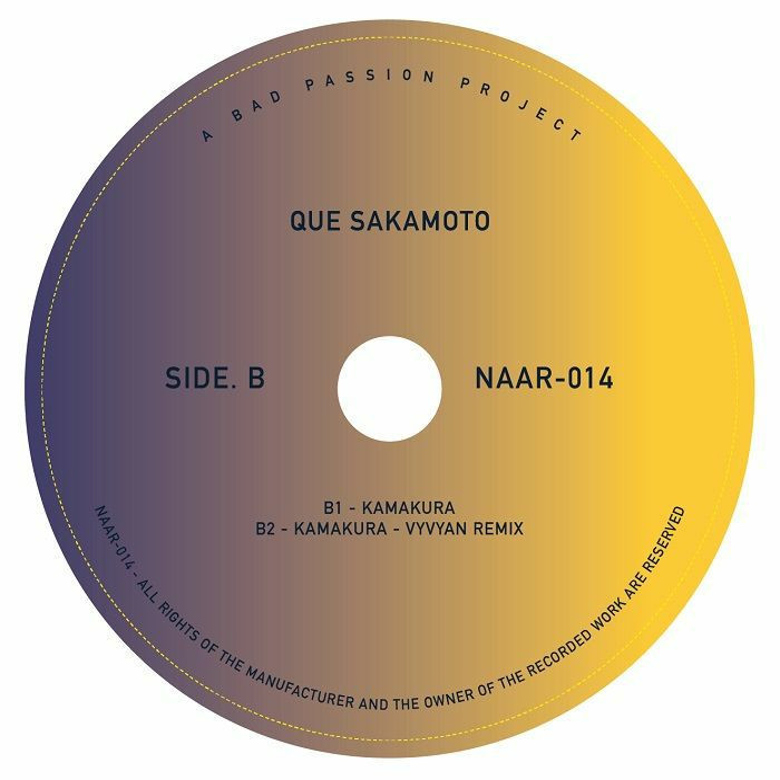 Que Sakamoto & NT - Uchuu Hikoshi (Apiento, Vyvyan Mixes) (Not An Animal)