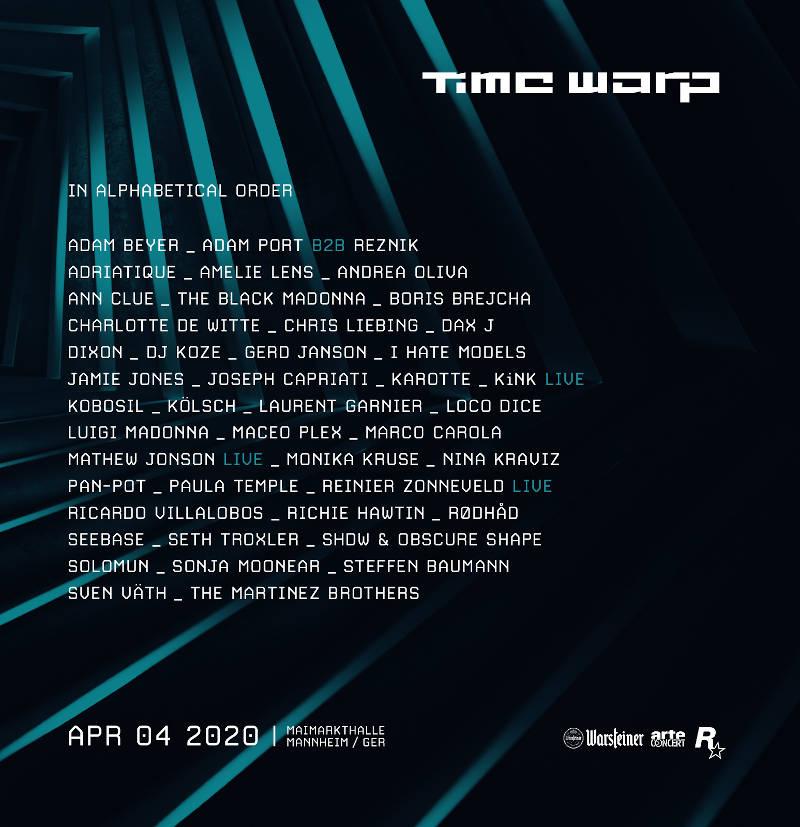 Time Warp Line-Up 2020