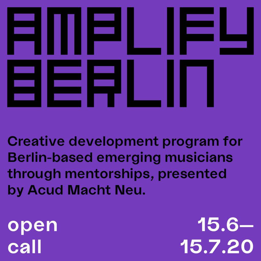 Amplify Berlin 2020 Banner