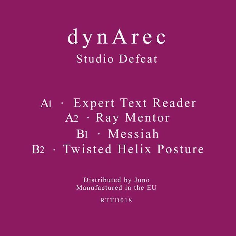 Dynarec - Studio Defeat (Return To Disorder)