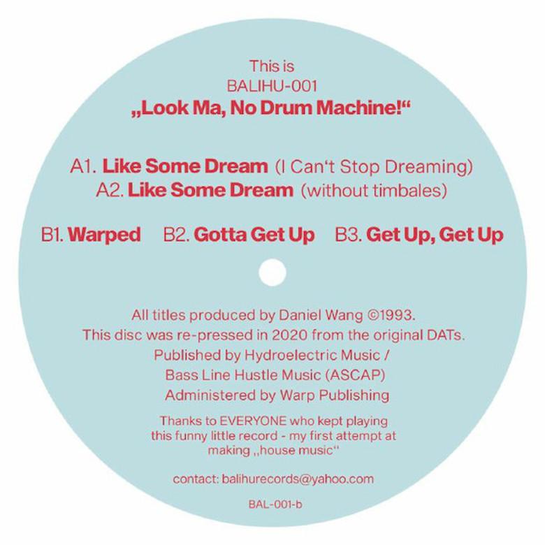 Daniel Wang - The Look Ma No Drum Machine EP (Balihu)